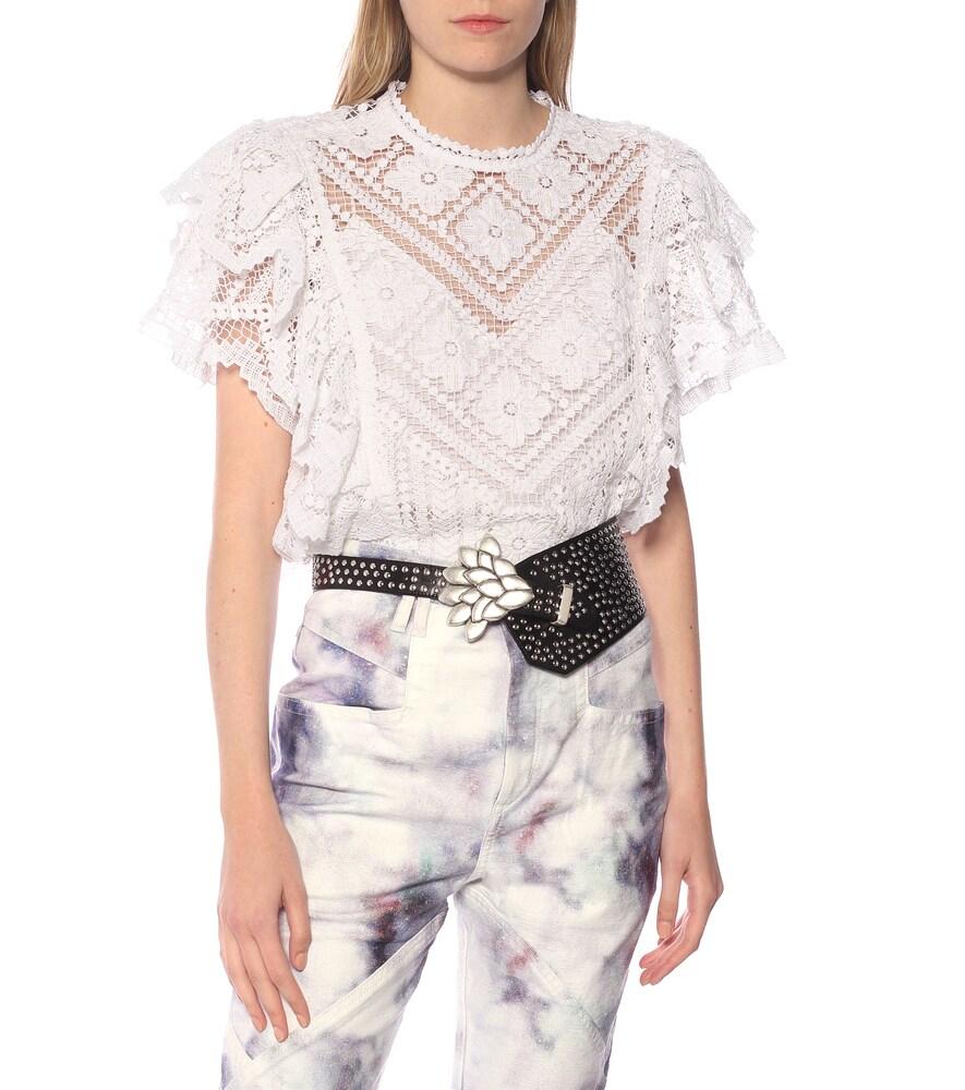 Isabel Marant | Lowai studded leather belt | Clouty