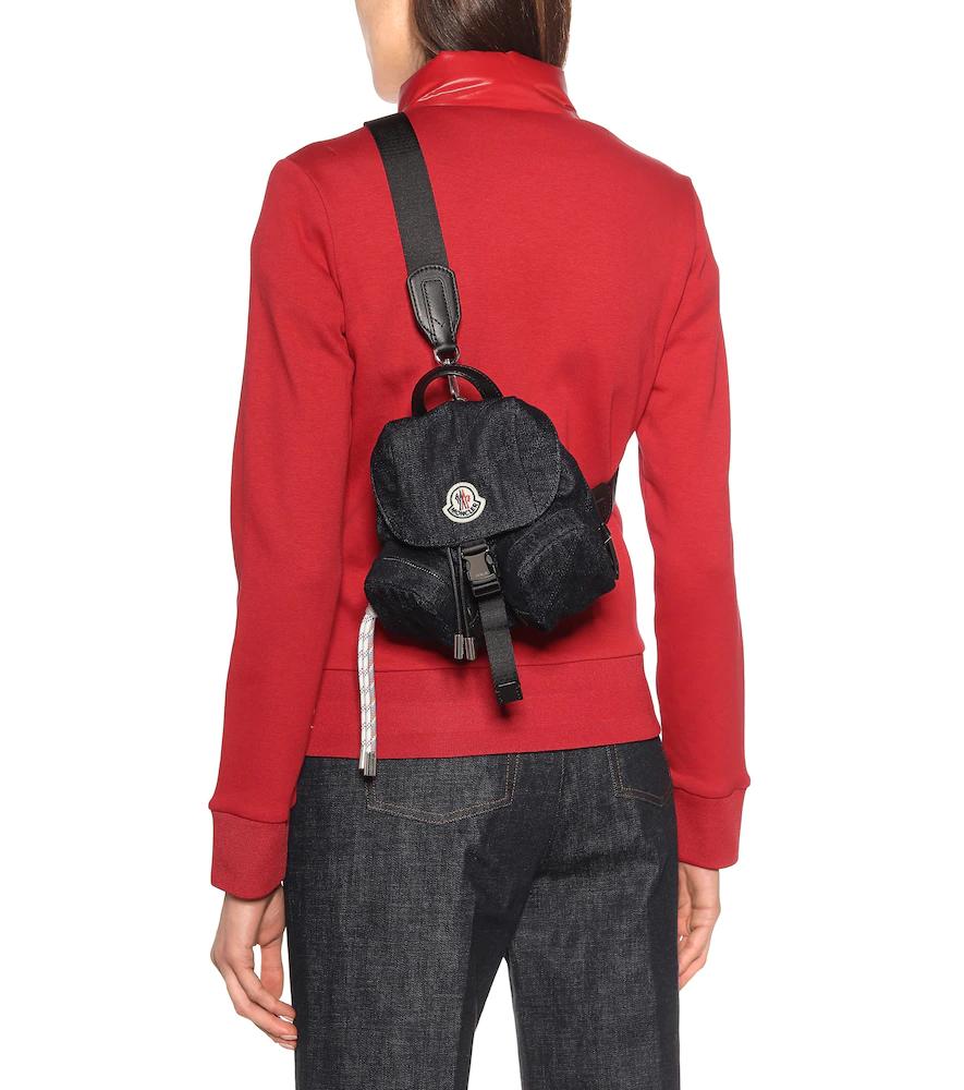 MONCLER | Dauphine Mini denim backpack | Clouty
