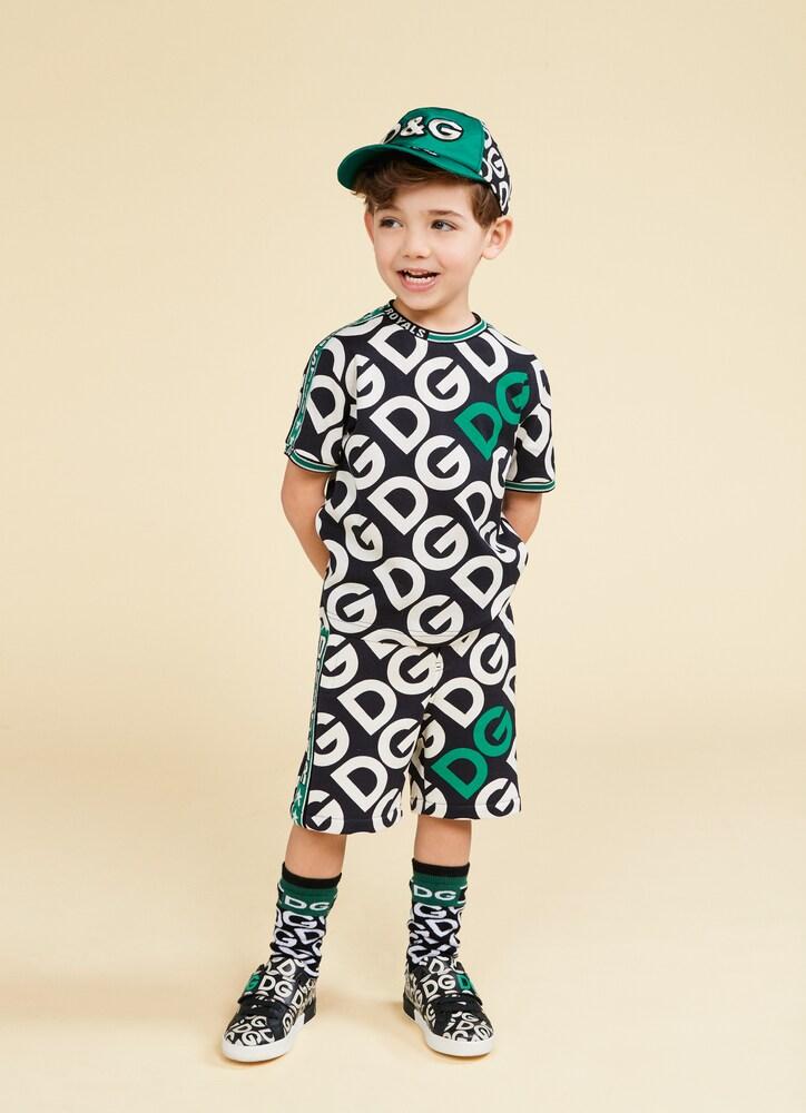 Dolce & Gabbana Junior | Portofino printed leather sneakers | Clouty
