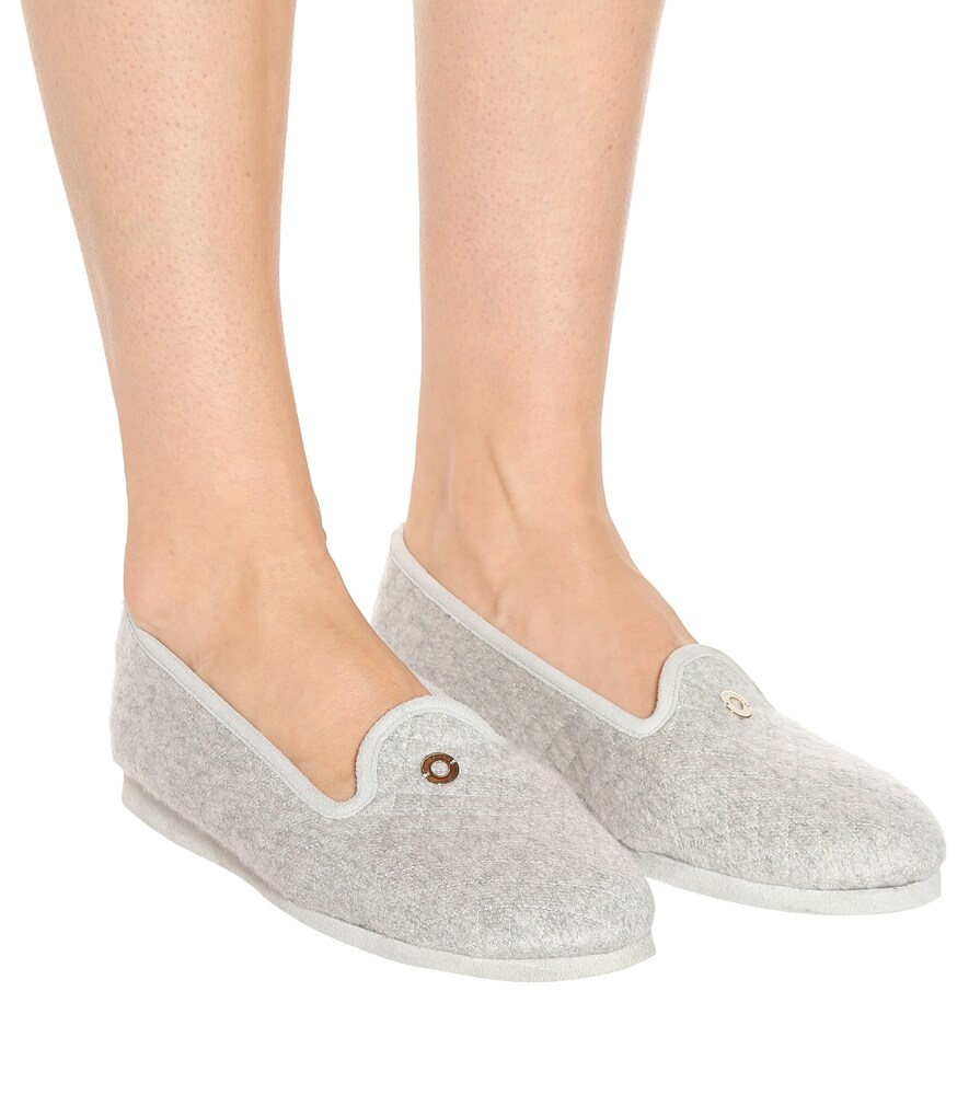 Loro Piana   Quilted cashmere slippers   Clouty