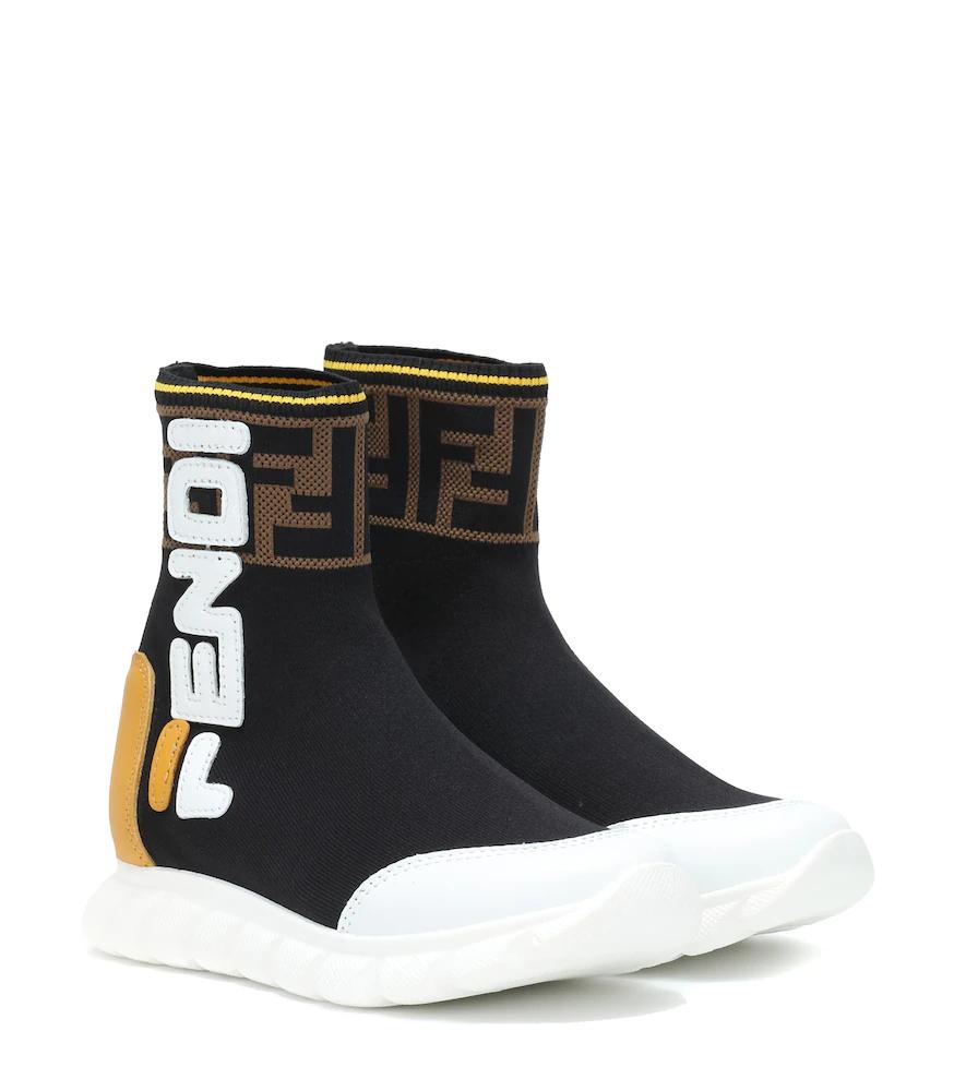 Fendi Children | FENDI MANIA sock sneakers | Clouty
