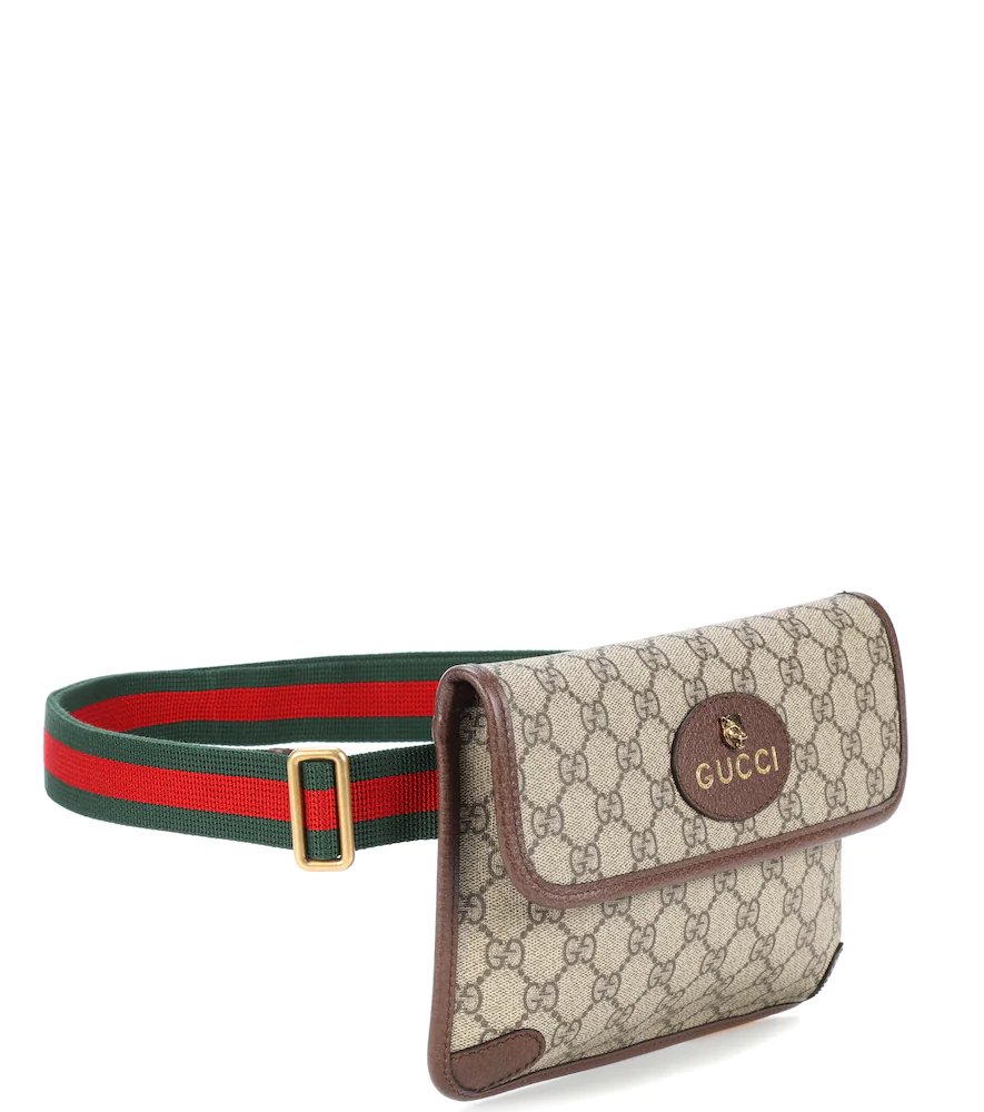 GUCCI | Leather-trimmed belt bag | Clouty