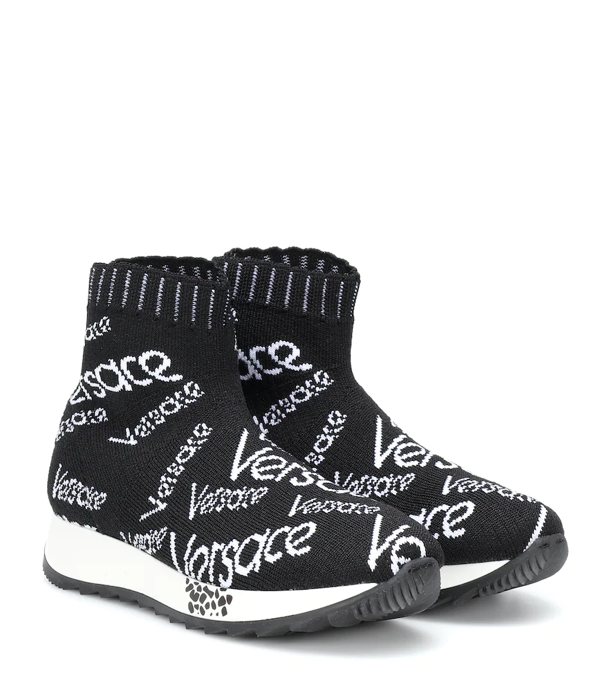 Versace Kids | Knitted sock sneakers | Clouty