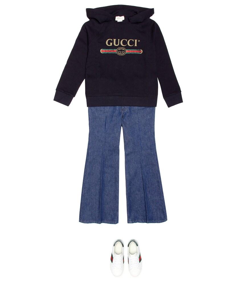Gucci Kids | Logo cotton hoodie | Clouty