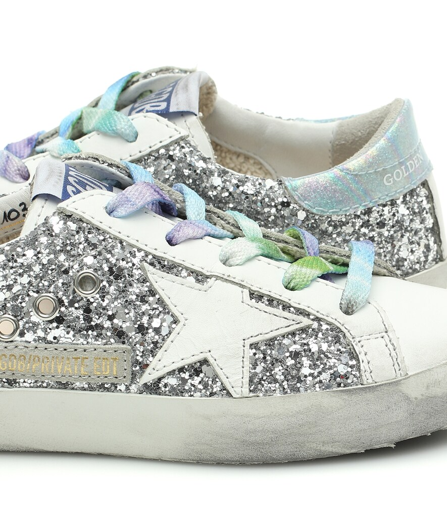 "Golden Goose Deluxe Brand | Exclusive to Mytheresa a€"" Superstar glitter and leather sneakers 