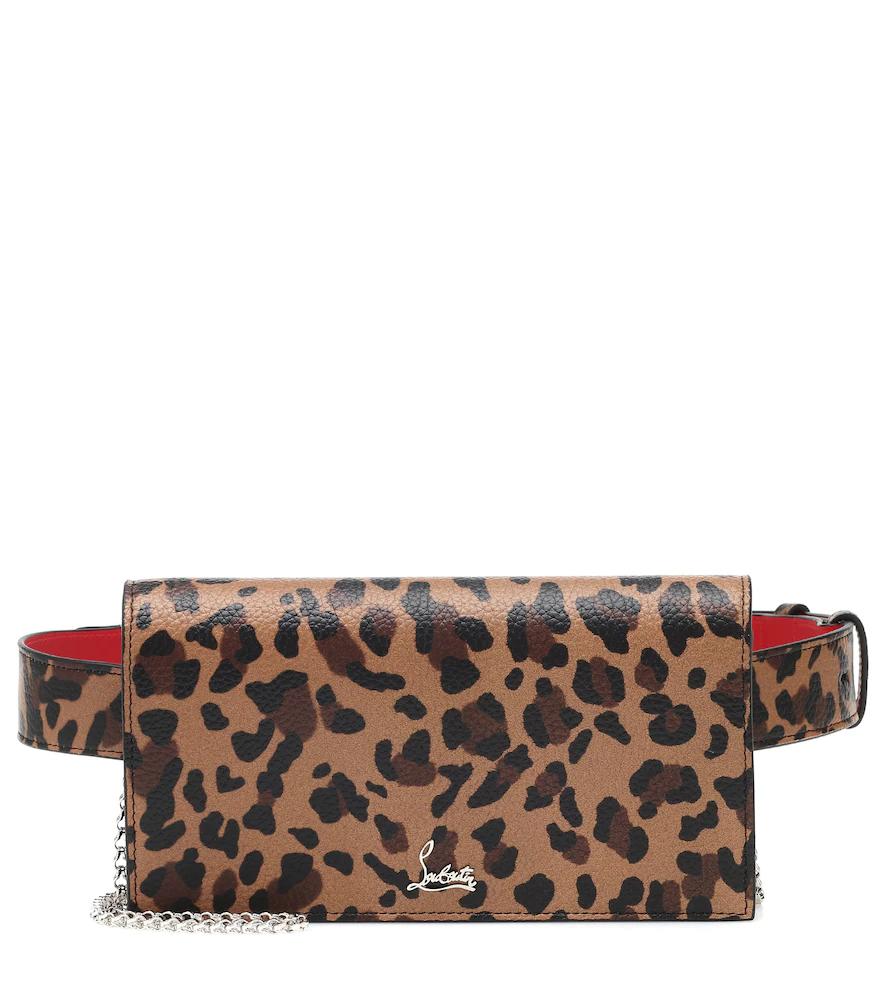 Christian Louboutin | Boudoir leopard-print leather belt bag | Clouty