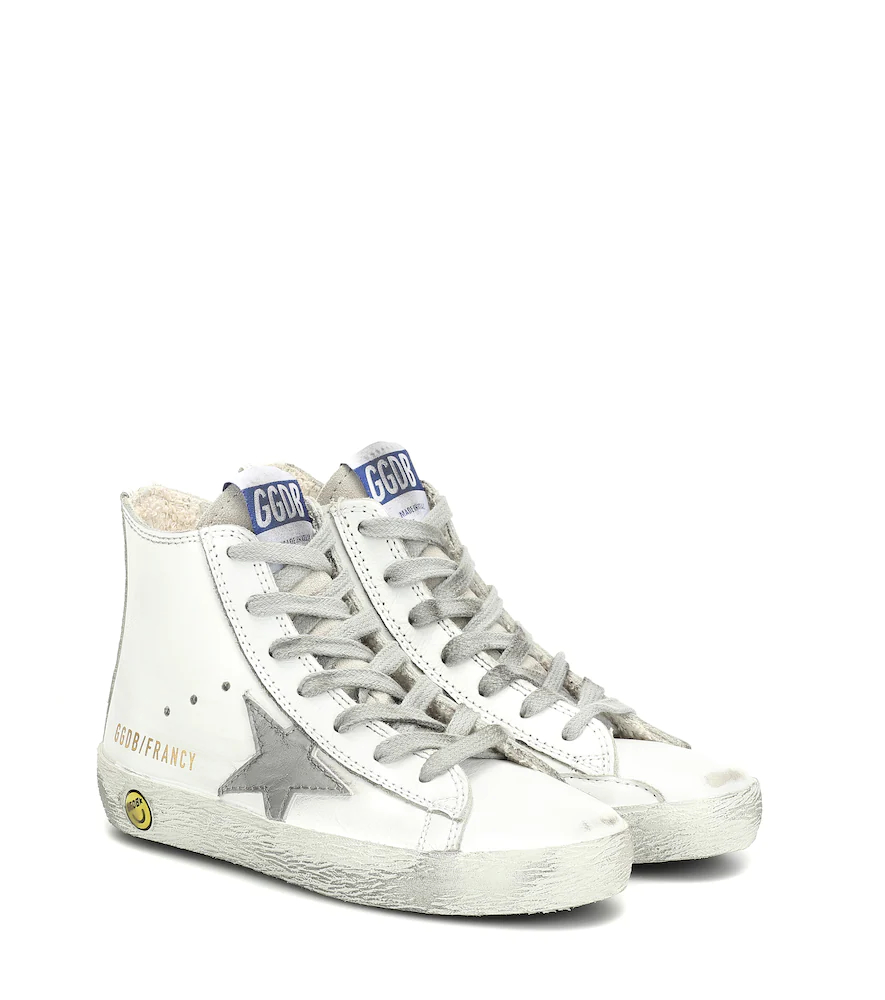 Golden Goose Deluxe Brand   Francy high-top leather sneakers   Clouty