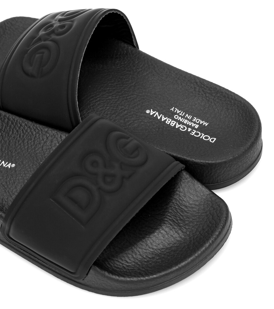 Dolce & Gabbana Junior | Leather slides | Clouty