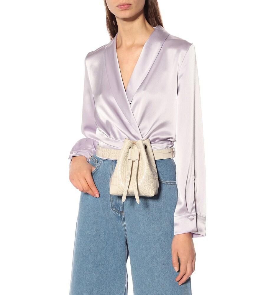 Nanushka   Minee faux-leather belt bag   Clouty