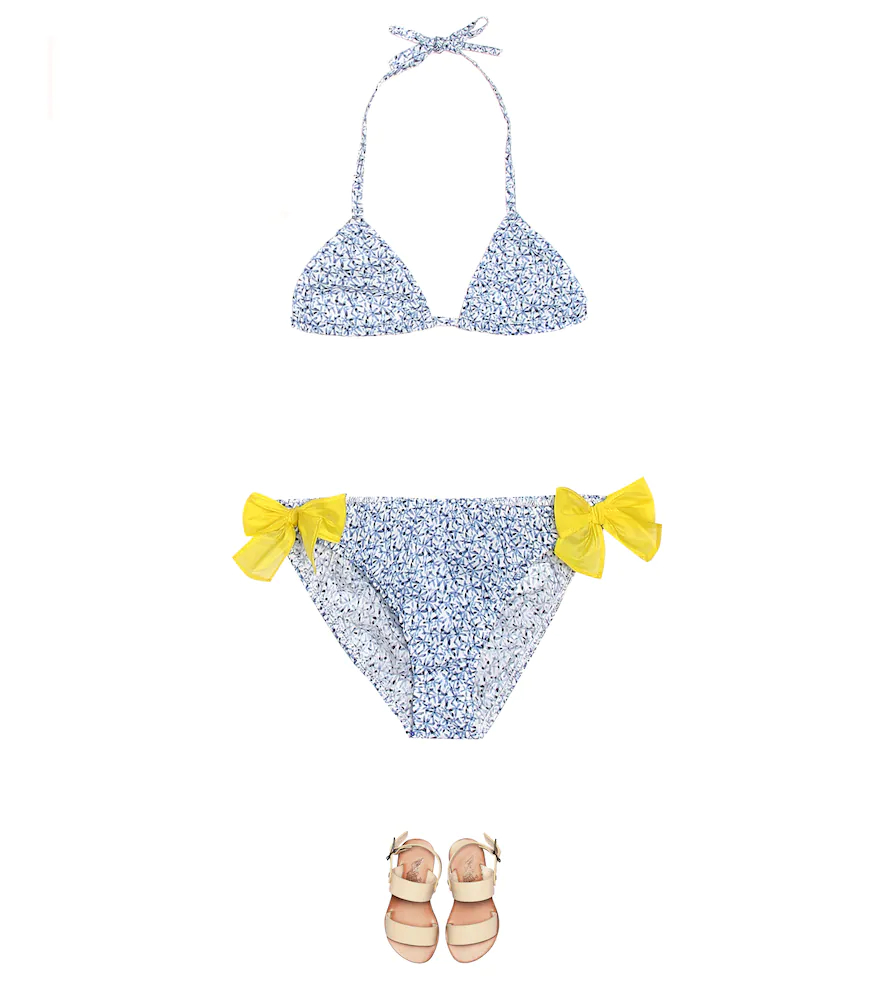 Il Gufo | Floral cotton bikini | Clouty