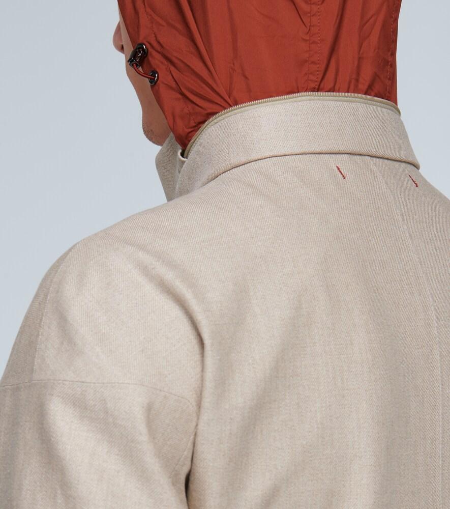 Loro Piana | Linen jacket with hidden hood | Clouty