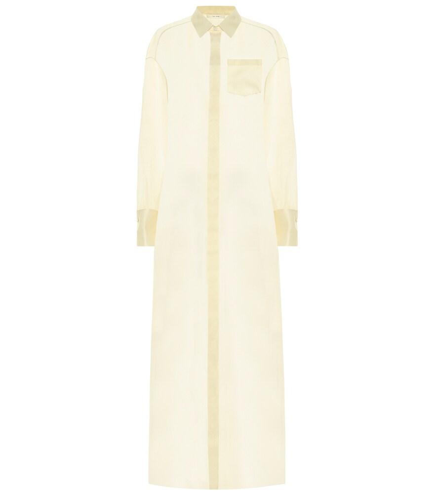 The Row   Siena silk organza shirt dress   Clouty
