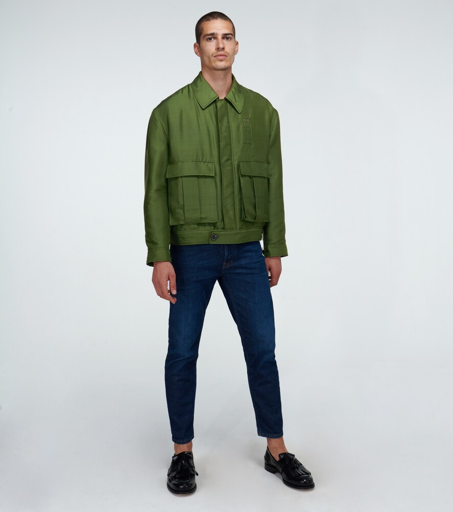 Loewe | Padded shantung silk jacket | Clouty