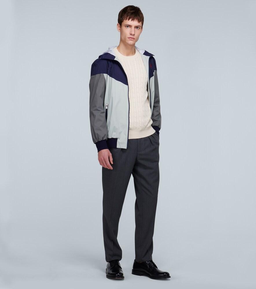 Brunello Cucinelli   Paneled lightweight jacket   Clouty