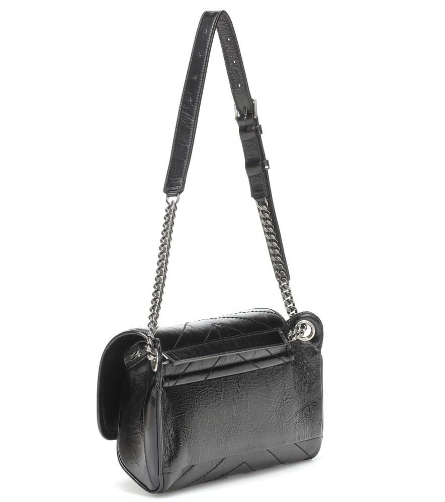 SAINT LAURENT   Niki crinkled-leather belt bag   Clouty