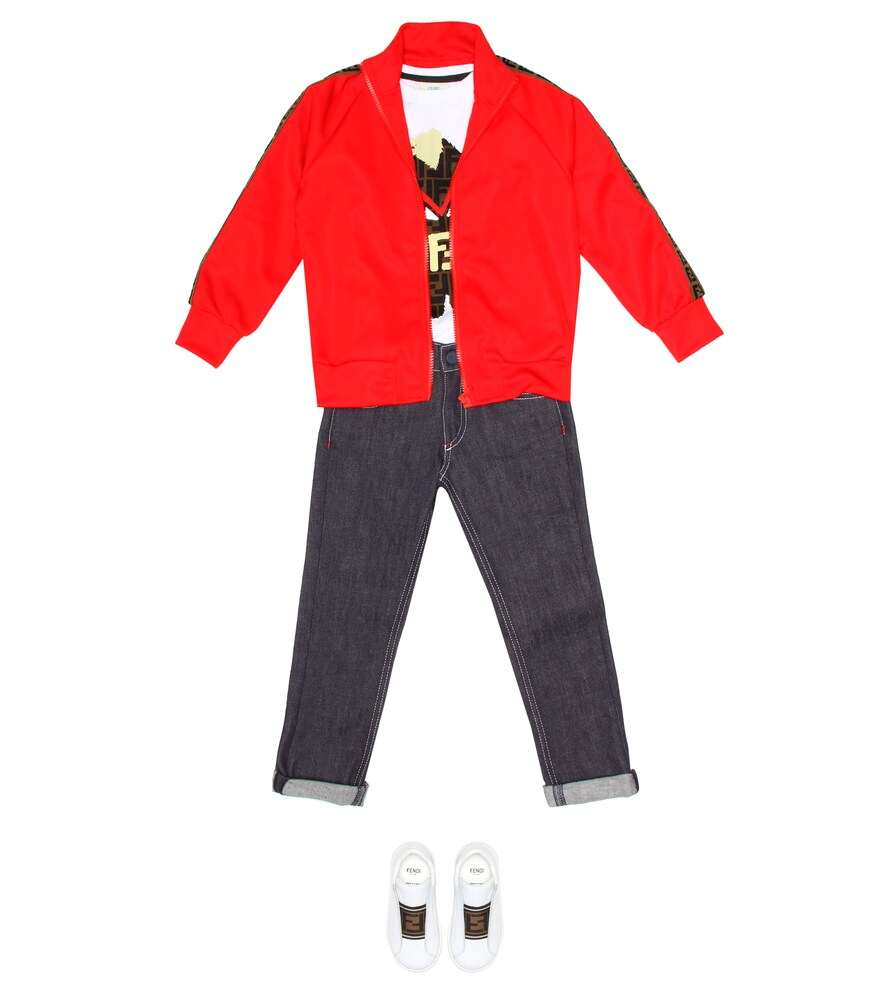 Fendi Children | Jersey track jacket | Clouty