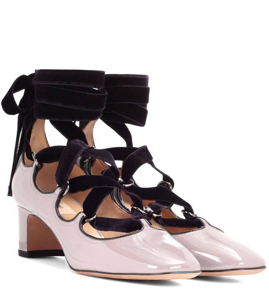 Valentino Garavani | Valentino Garavani lace-up patent leather pumps | Clouty
