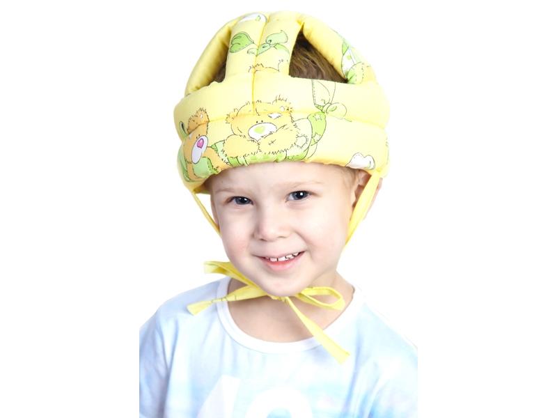 BabyBOOM | Шапка-шлем BabyBoom для детей, противоударная № 1 желтый, р.44-56 | Clouty