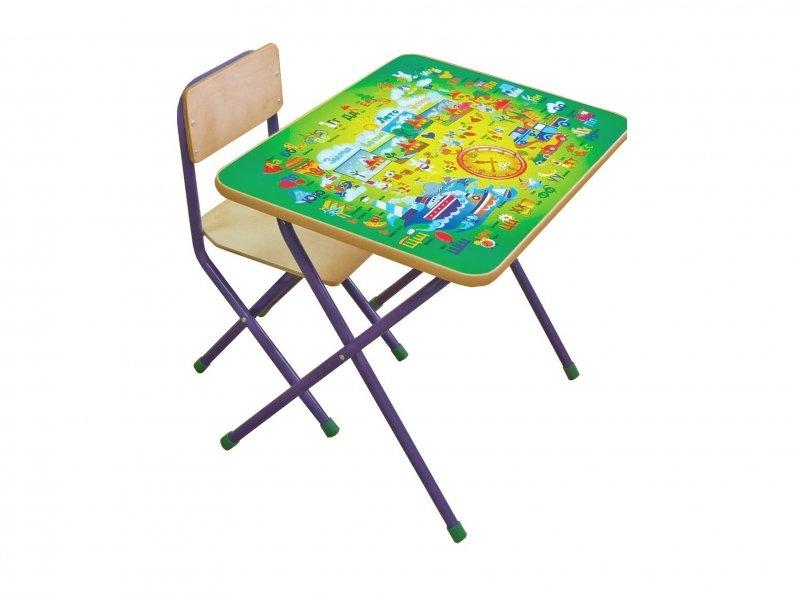 Фея   Комплект детской мебели Фея, Досуг 201, Алфавит зеленый   Clouty