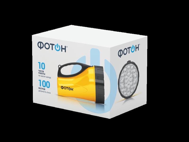 Фотон | Фонарь Фотон аккумуляторный светодиодный РВ-0318 желтый | Clouty