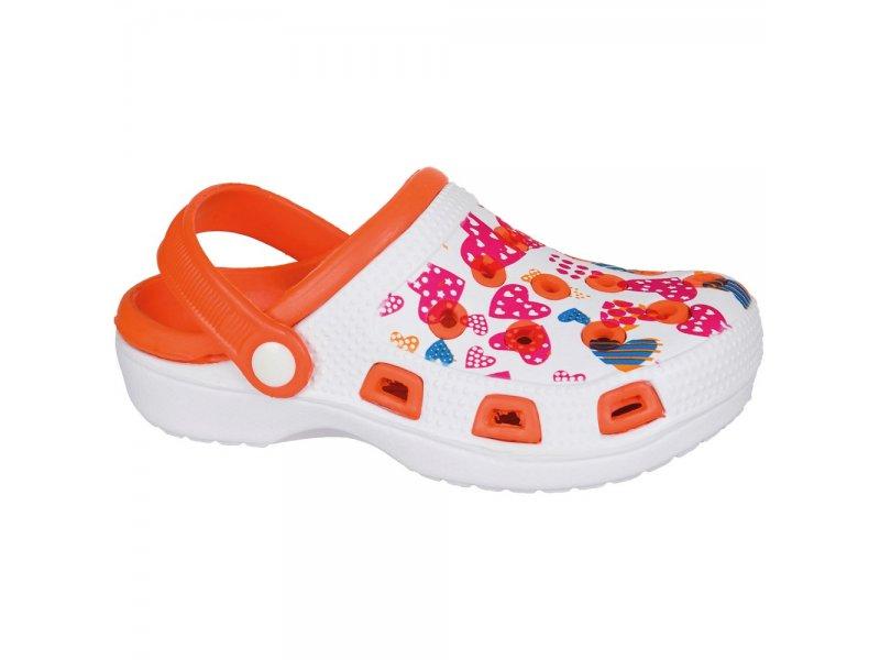 Mursu | Туфли Mursu открытые для девочки белый/оранжевый, р.30 | Clouty
