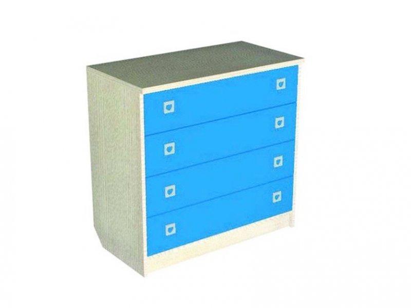 Мезонин Мебель | Комод Мезонин Мебель 4D бук/розовый | Clouty
