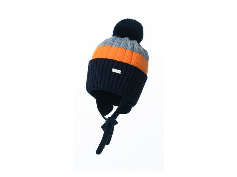 Журавлик   Шапка Журавлик, Меридиан синий/оранжевый, р.48-50   Clouty