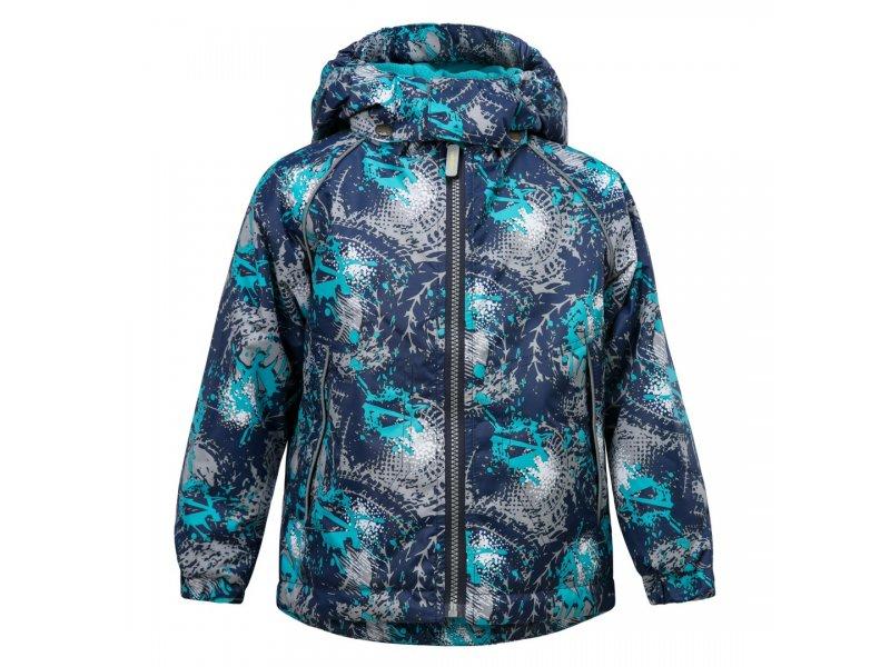 Caimano   Куртка Caimano, Lucas для мальчика 812 сине-чёрный принт, р b4c6dc4f24a
