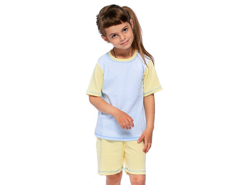 МАРВЕЛИН | Пижама Марвелин детская голубой/желтый, р.86 | Clouty