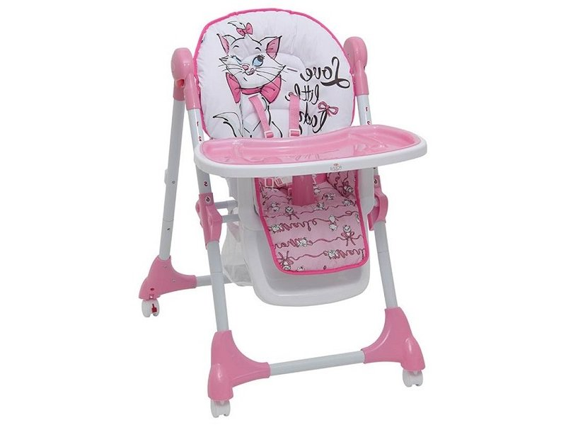 Polini | Стульчик для кормления Polini kids Disney baby 470 Кошка Мари розовый | Clouty