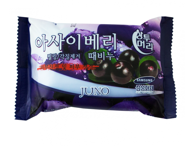 Juno Cosmetic   Мыло Juno для рук и тела с ягодами Акаи, 150   Clouty
