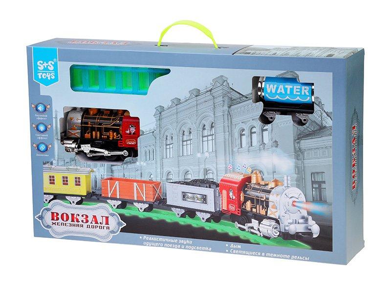 S+S Toys | Железная дорога S+S Toys со звуковыми, подвижными и светящимися элементами | Clouty