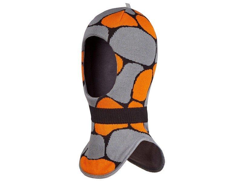 Oldos | Шапка-шлем Oldos Active, Сьон апельсиновый/серый, р.46-48 | Clouty
