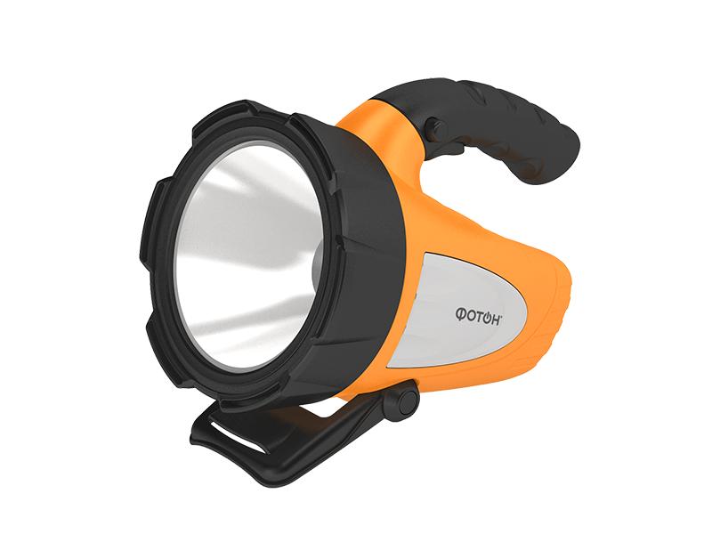 Фотон   Фонарь-прожектор Фотон аккумуляторный светодиодный РB-7500 (5W) оранжевый   Clouty