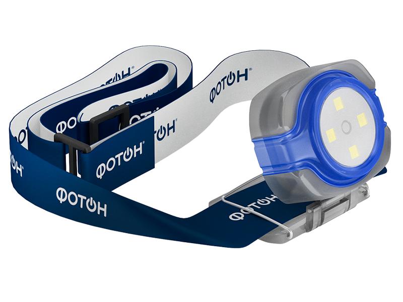 Фотон   Фонарь Фотон налобный светодиодный SH-200 синий   Clouty