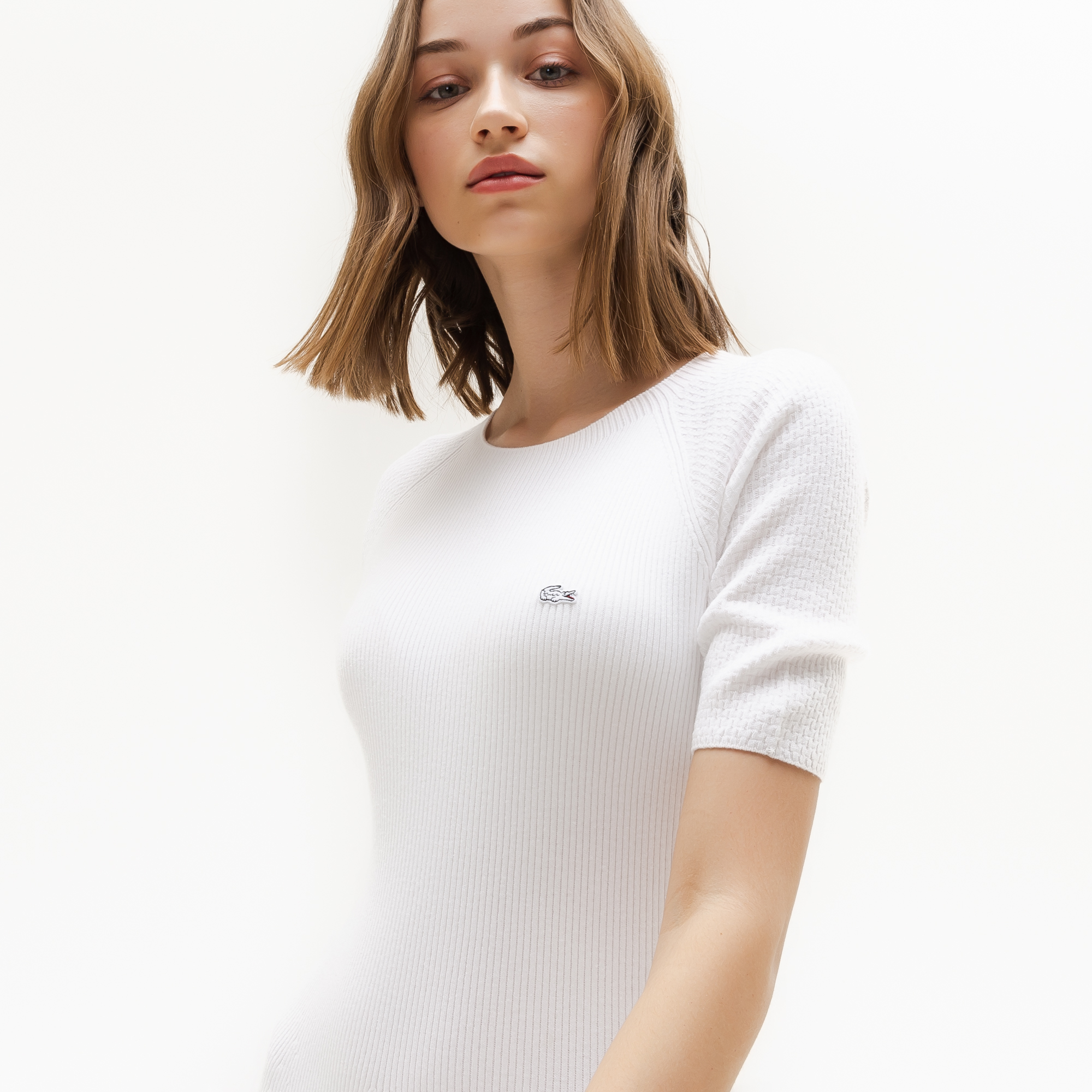 Lacoste | белый Платье Lacoste | Clouty