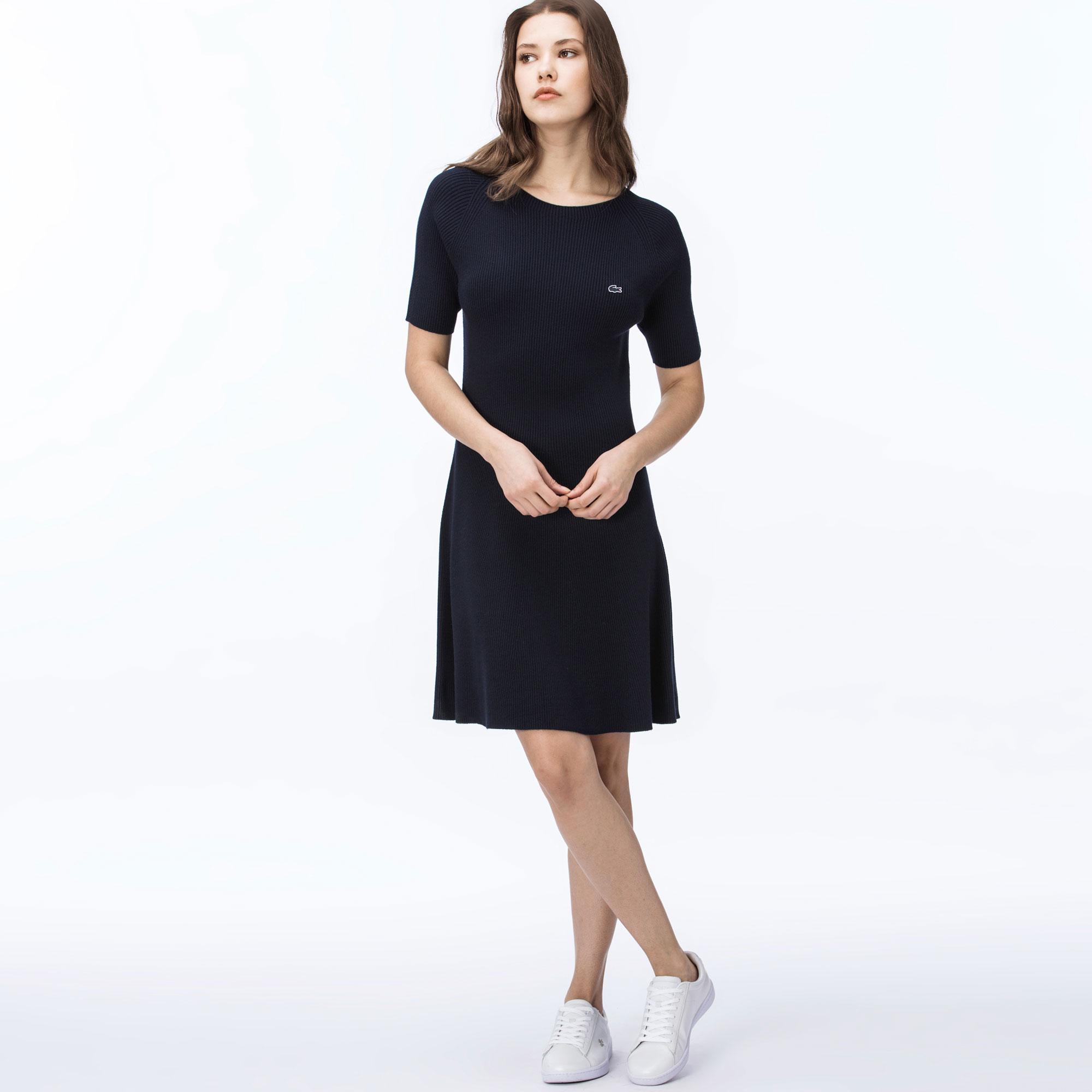 Lacoste   темно-синий Платье Lacoste   Clouty