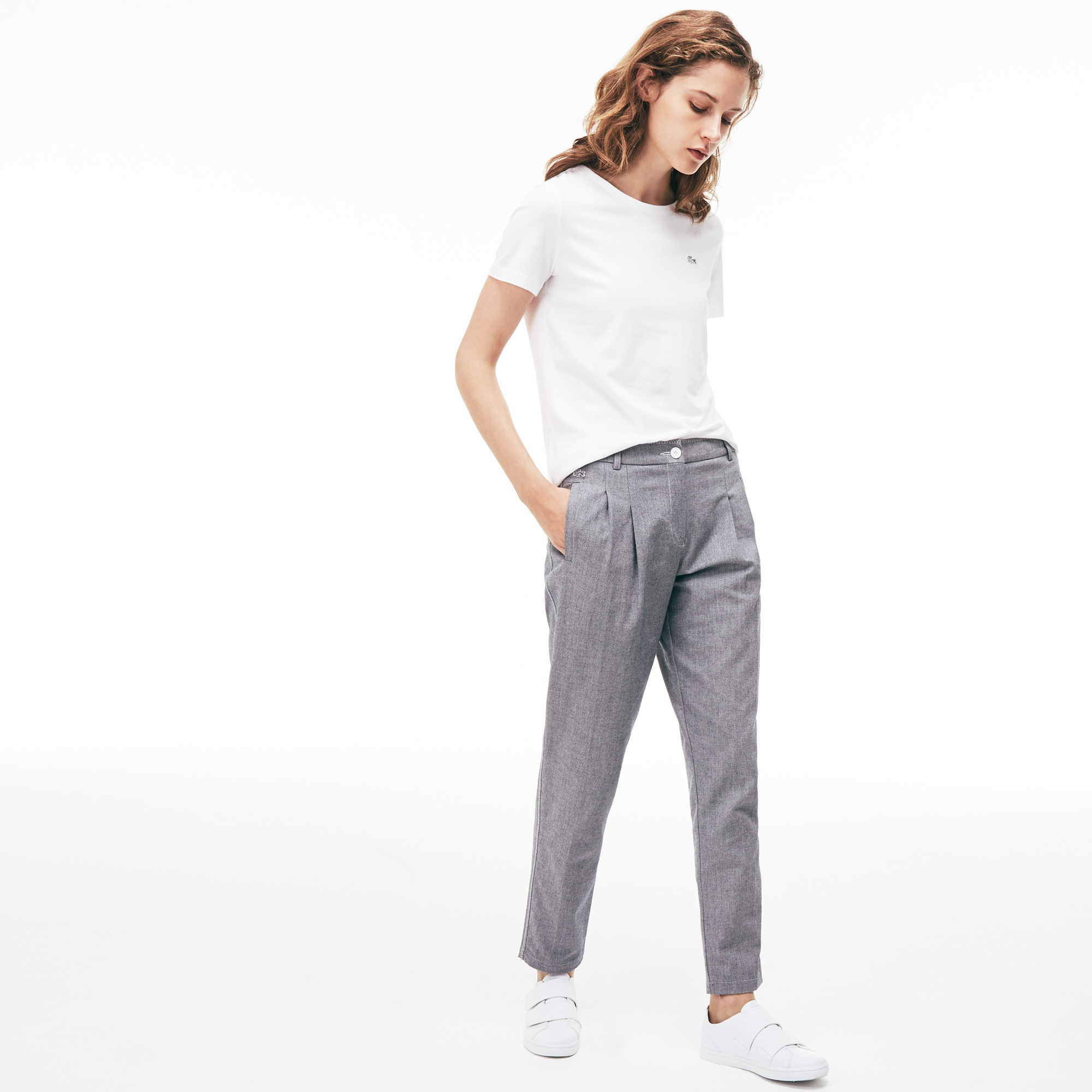 Lacoste | серый Брюки Lacoste Regular fit | Clouty