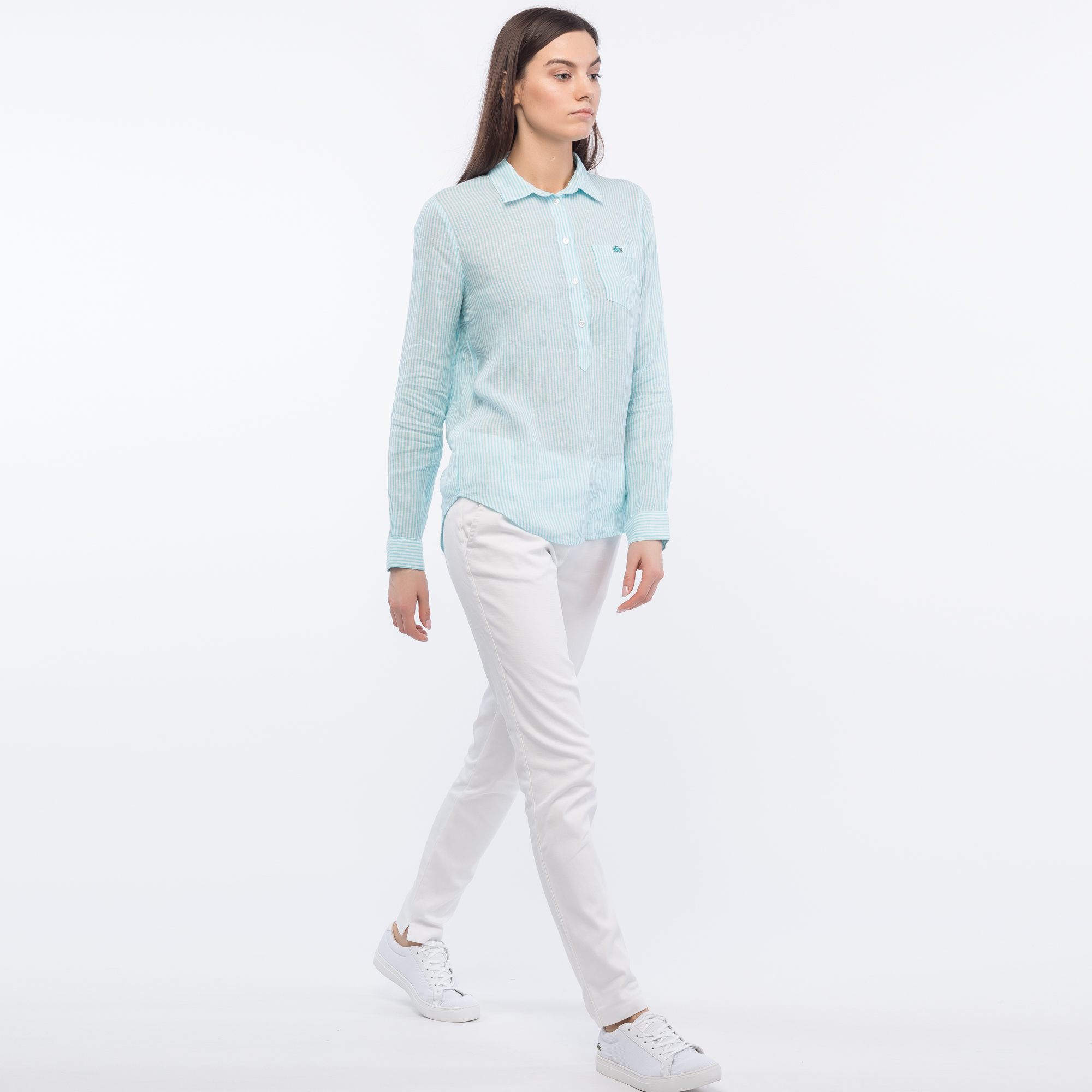 Lacoste | белый Брюки Lacoste Regular fit | Clouty