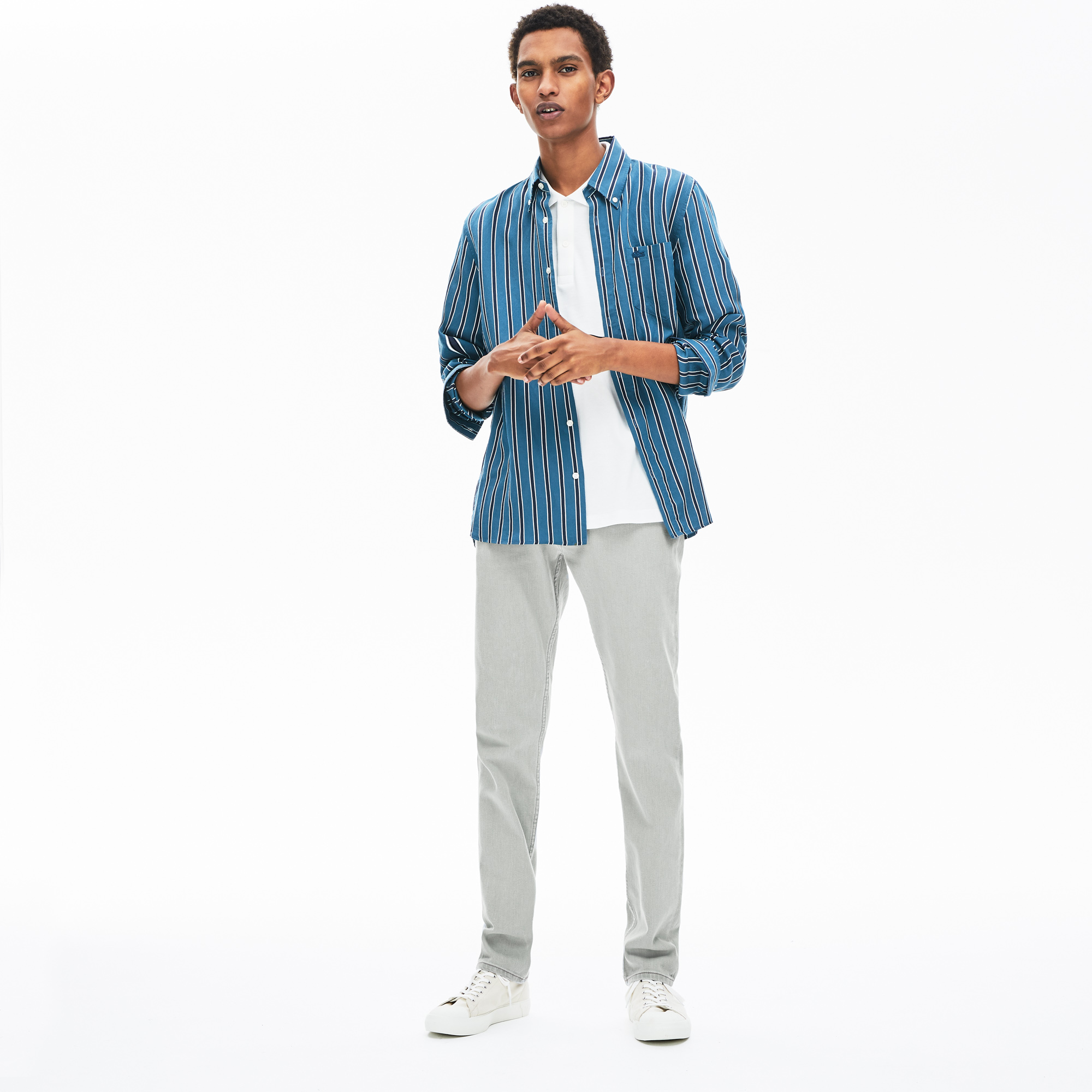 Lacoste | белый Джинсы Lacoste | Clouty