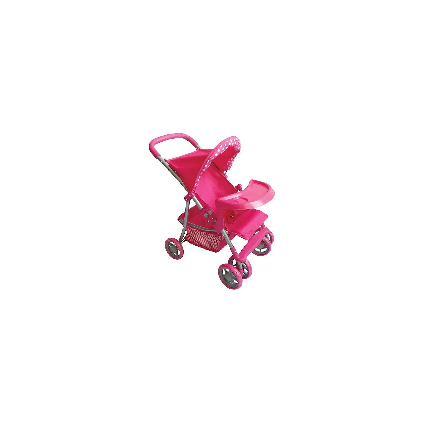 Buggy Boom | Коляска для кукол Buggy Boom Skyna, розовая | Clouty