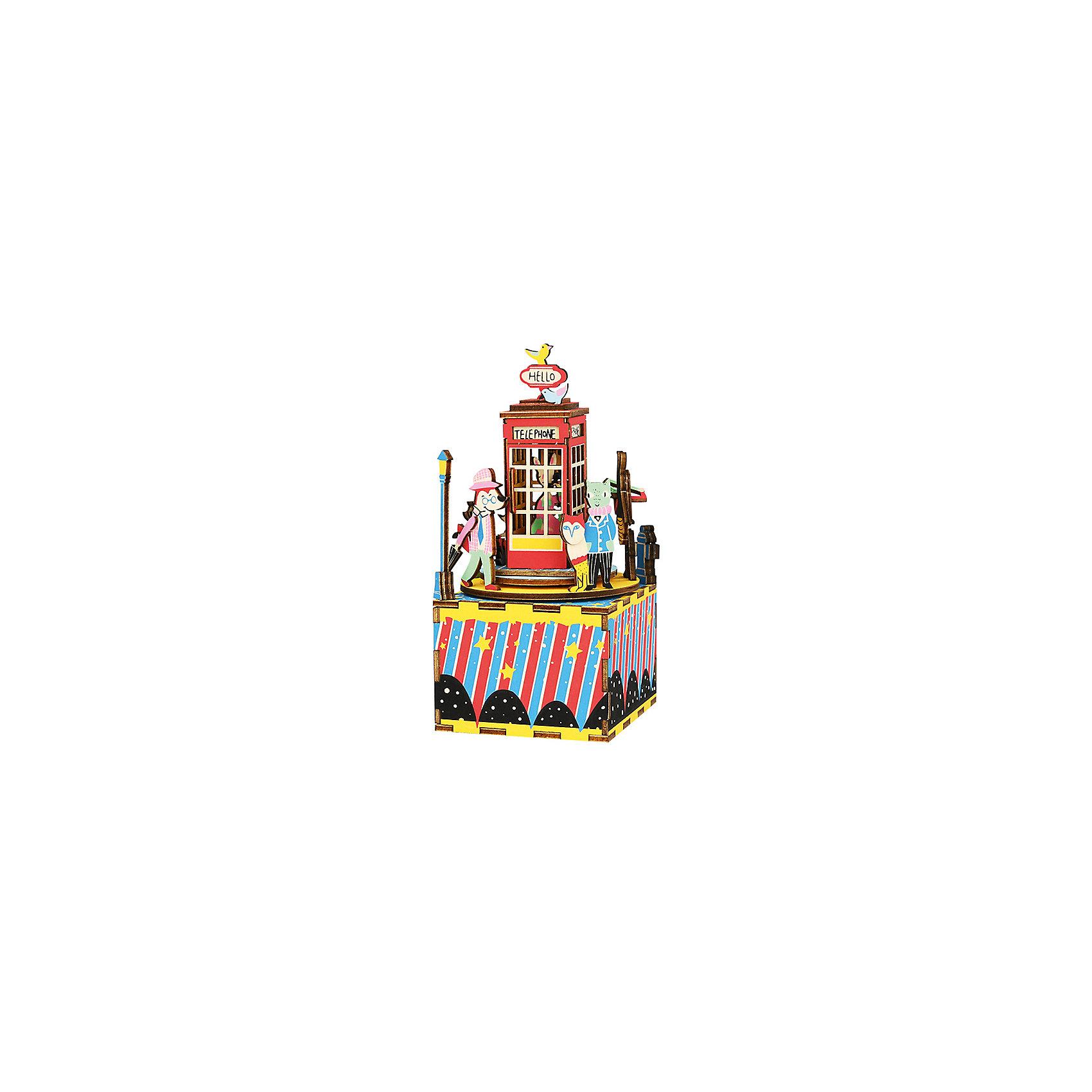 ТМ Цветной | Сборная модель-румбокс Телефонная будка | Clouty