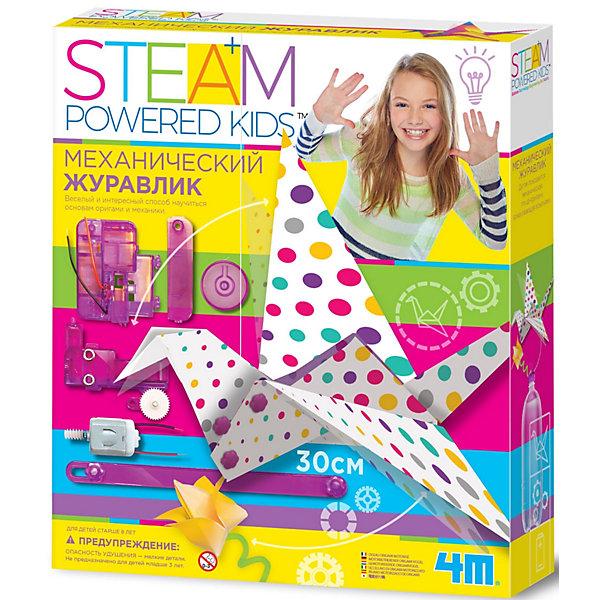 4M | Набор для конструирования 4M Steam Powered Kids Механический журавлик | Clouty