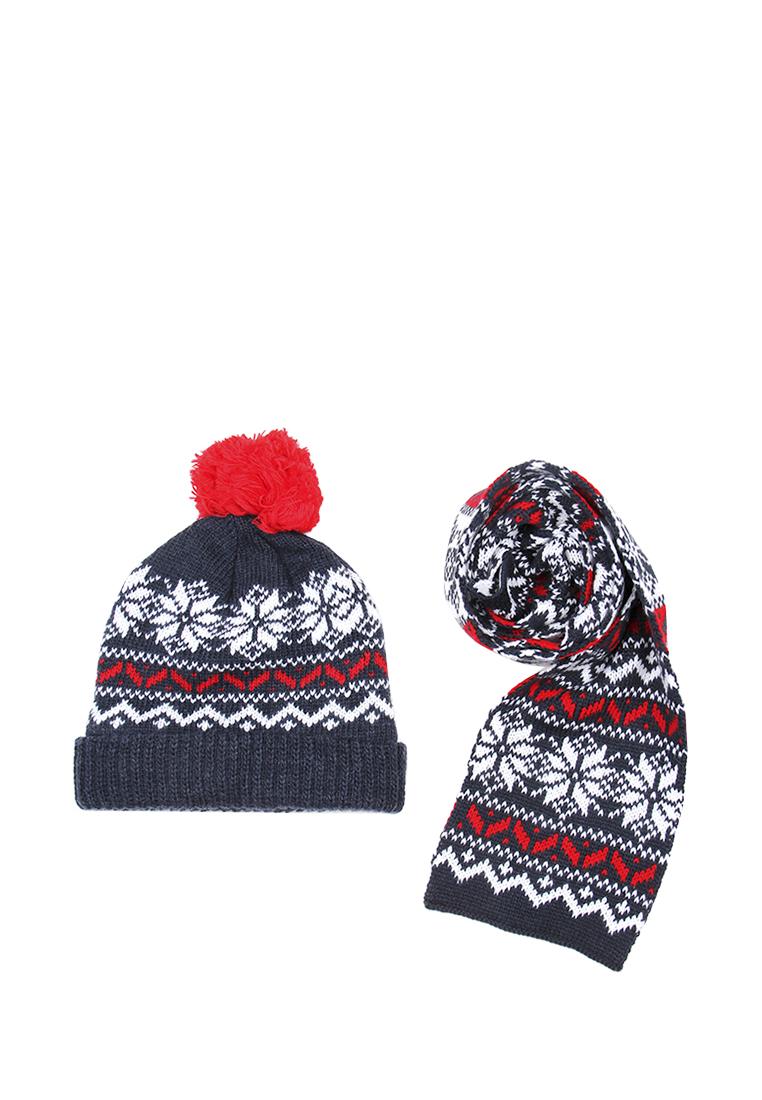Daniele Patrici | Набор шапка и шарф детский для мальчиков с размером Daniele Patrici | Clouty