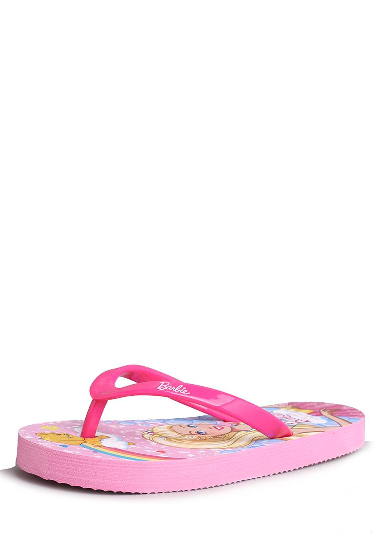 Barbie | Шлепанцы детские для девочек Barbie | Clouty