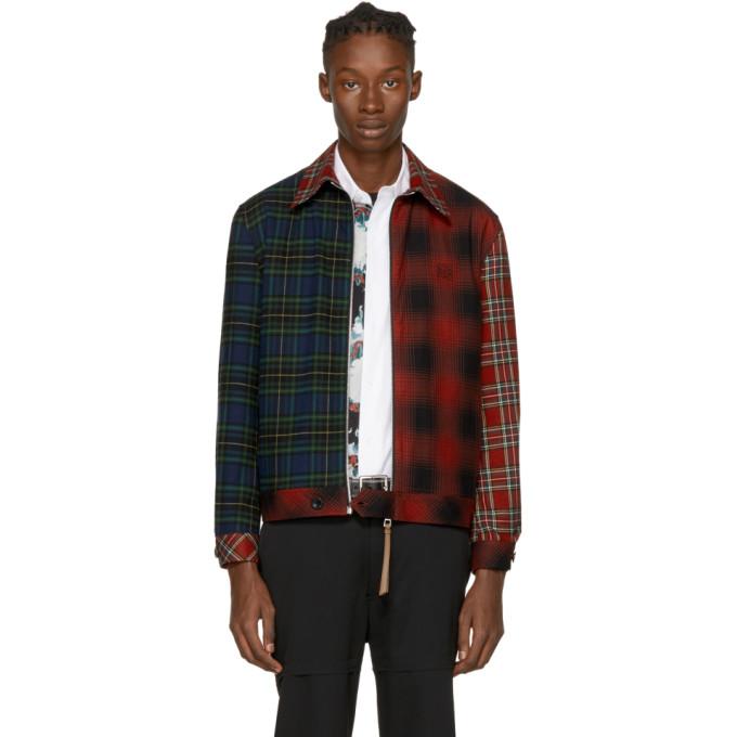 Loewe | Loewe Multicolor Tartan Patchwork Jacket | Clouty