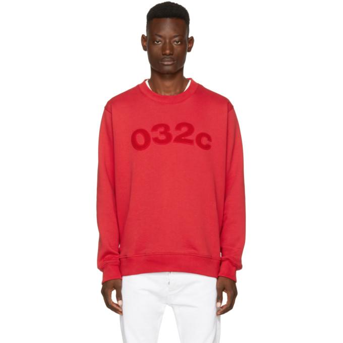 032c Red Believer Logo Sweatshirt
