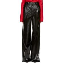 Kwaidan Editions Black Faux-Leather Wide-Leg Trousers