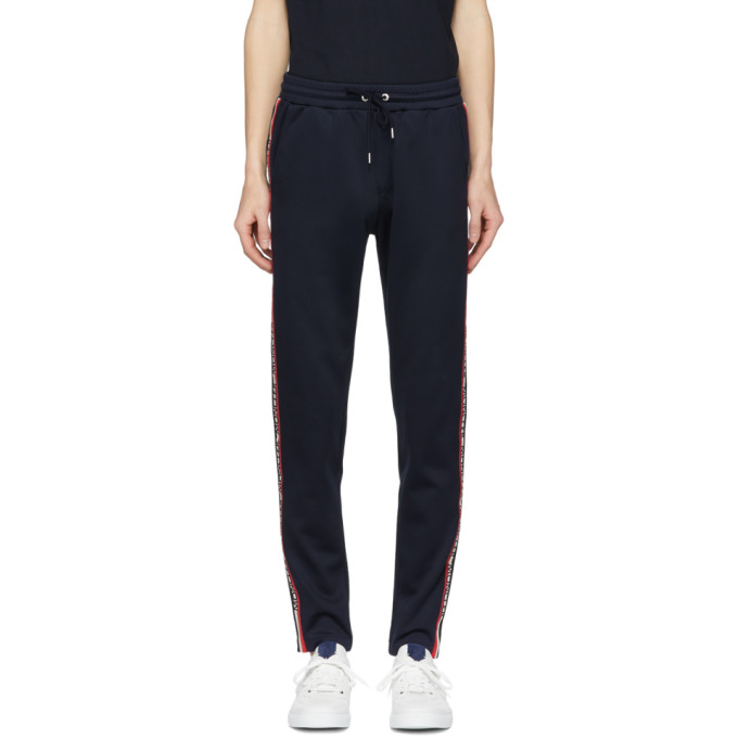 MONCLER | Moncler Blue Side Stripe Lounge Pants | Clouty