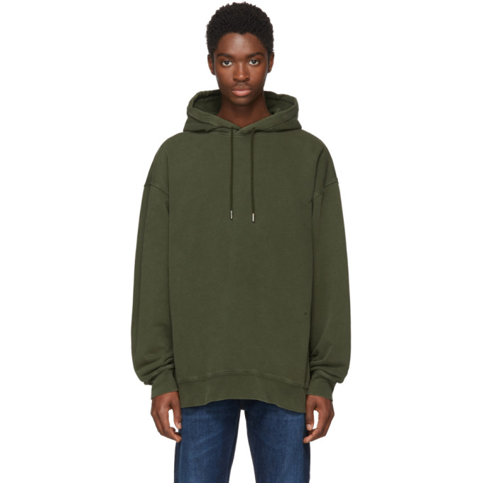 Acne Studios | Acne Studios Green Fala Wash Hoodie | Clouty